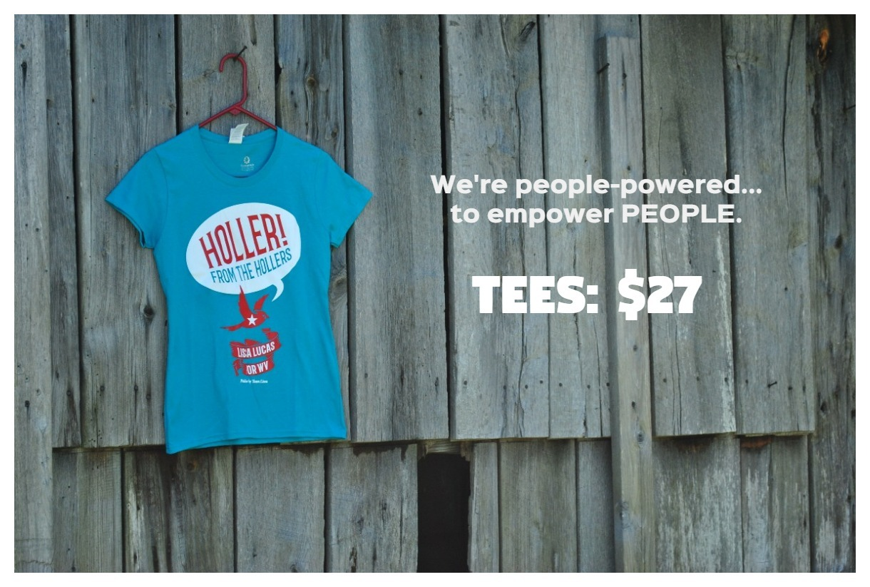 Holler from the Hollers tee shirt