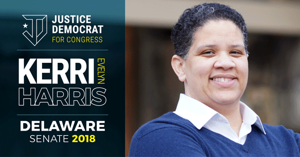 Justice Democrats endorsement of Kerri Harris is a big deal