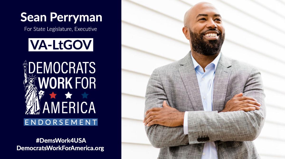 Help elect Sean Perryman for VA-LtGov! *Election: Nov 2, 2021*