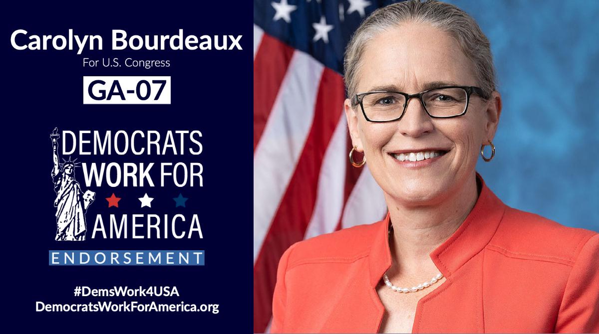 Help re-elect Carolyn Bourdeaux for GA-07!