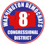 Image of Washington 8th Congressional District Democratic Committee