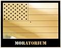 Jonathan Horowitz: 'Moratorium (Gold Rainbow American Flag)'