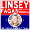 """Linsey Fagan for Texas Sticker (Square 3"""")"""
