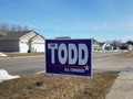 Ian Todd Yard Sign