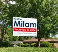 Milam Yard Sign