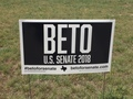 Beto for Senate Yard Sign