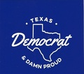 Proud Texas Democrat, sticker