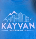 Kayvan for Denver Unisex T-shirt - Blue
