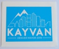 Kayvan for Denver Sticker