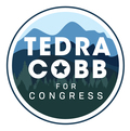 Tedra Cobb for Congress button
