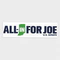 **Limited Edition** All-In for Joe Bumper Sticker