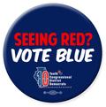 Seeing Red?  Vote Blue - 1 Button