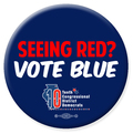 Seeing Red? Vote Blue - 5 Buttons