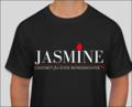 Jasmine for 100 Black Tee