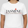 Jasmine for 100 White Tee