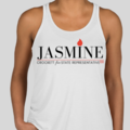 Jasmine for 100 White Racerback Tank