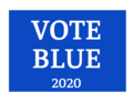 Vote Blue Yard Sign