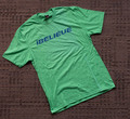 iBELIEVE - Green Triblend Tee