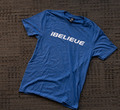 iBELIEVE - Blue Triblend Tee