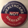 3 Buttons: Healthcare not Warfare