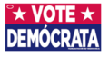 Vote Democrata bumper sticker