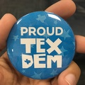 Proud Tex Dem, button