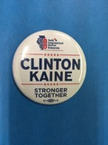 Clinton/Kaine Stronger Together Button - 1 Button