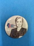 Hillary Clinton Button (Grayscale) - 1 Button
